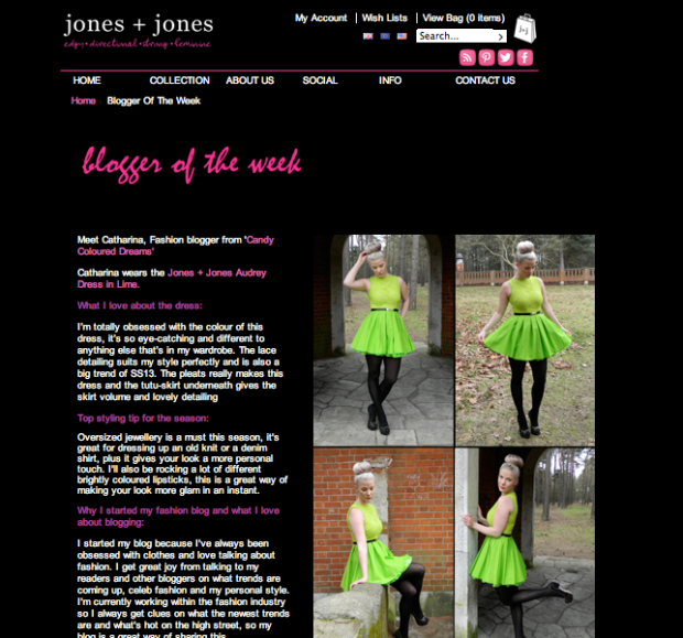 Jones + Jones Blogger of the Week