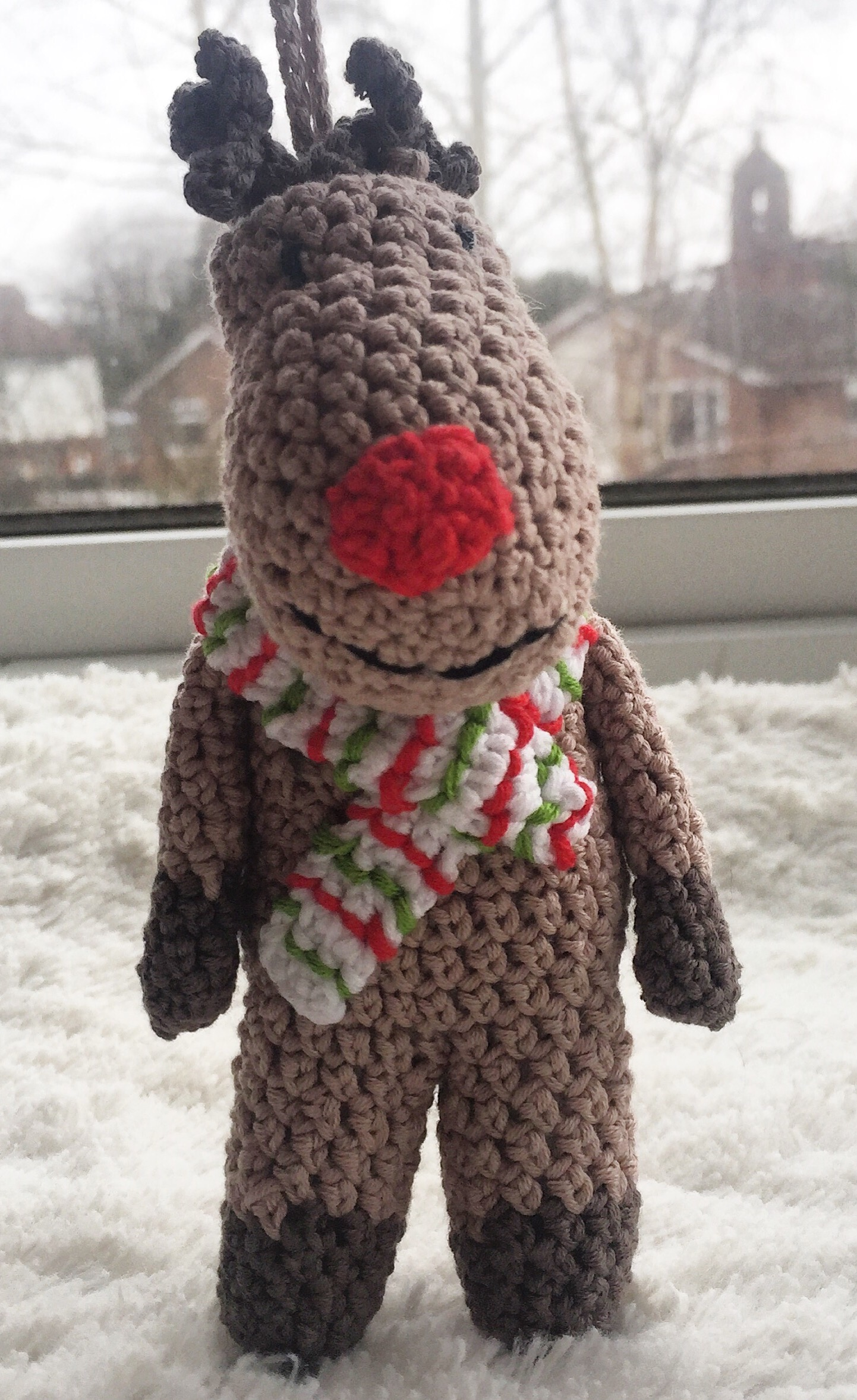crocheted rudolph